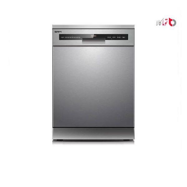 ماشین ظرفشویی سام مدل DW-180 استیل