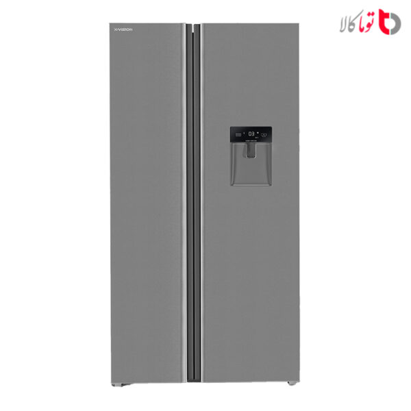 یخچال و فریزر ساید بای ساید ایکس ویژن مدل TS550-ASD
