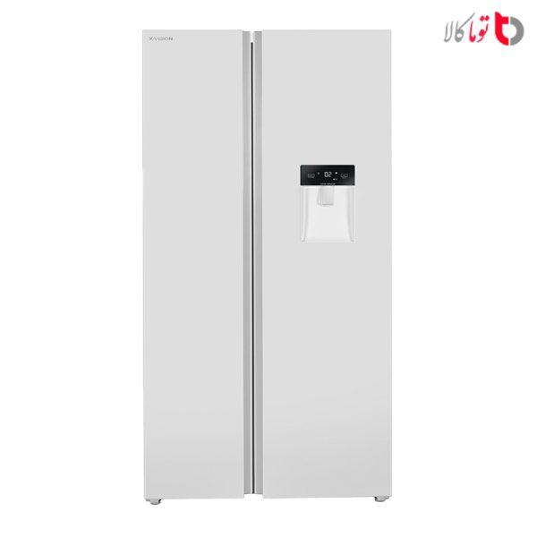یخچال و فریزر ساید بای ساید ایکس ویژن مدل TS550-AWD